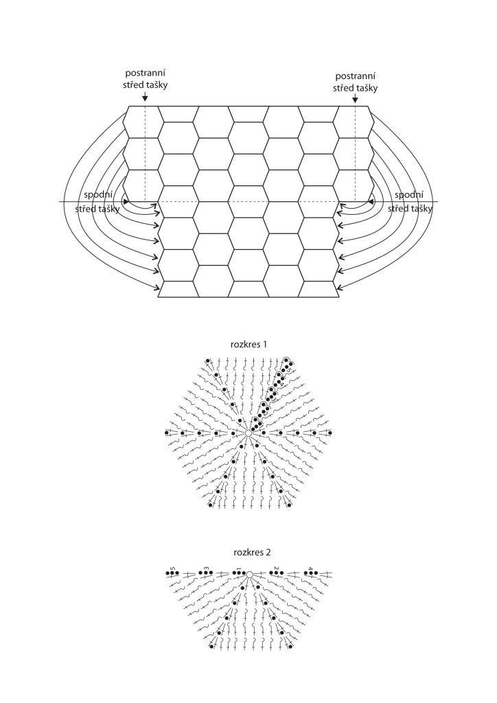 2020-L-56 schéma a rozkres - háčkovaná taška z příze Limone značky Schoeller+Stahl